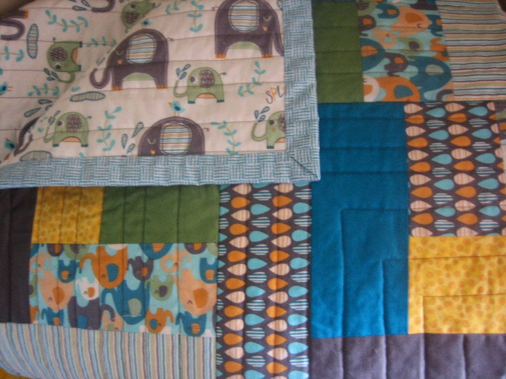 The finished elephant quilt